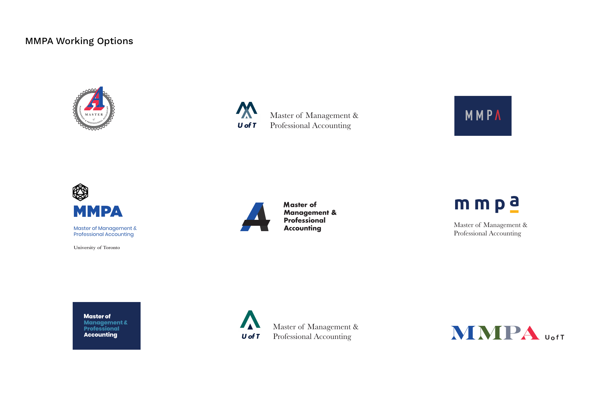 Photo of MMPA Working Logo Options