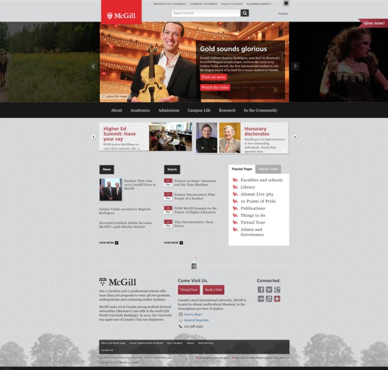 McGill Homepage 2012